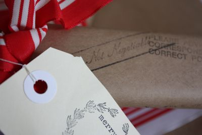 Xmas stamped wrapping  - 01