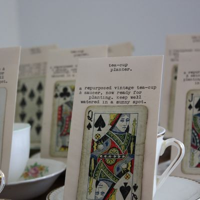 Tea-cup planter seed packets - 6