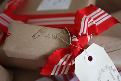 Xmas stamped wrapping  - 02