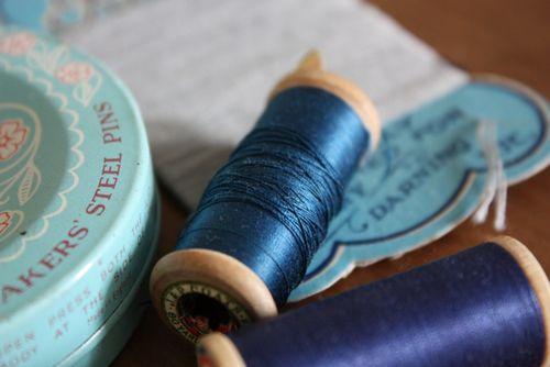 Sew blue. - 2