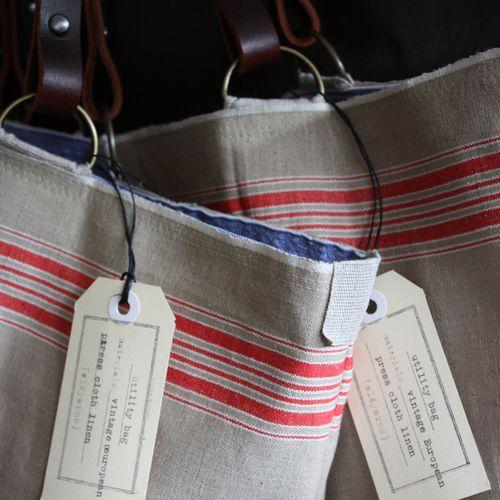 Red stripe utility bag - 4
