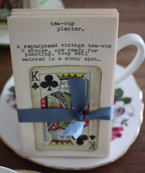 Tea-cup planter seed packets - 2