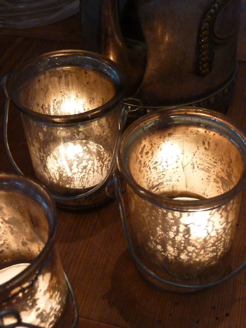 Glass votives - 4