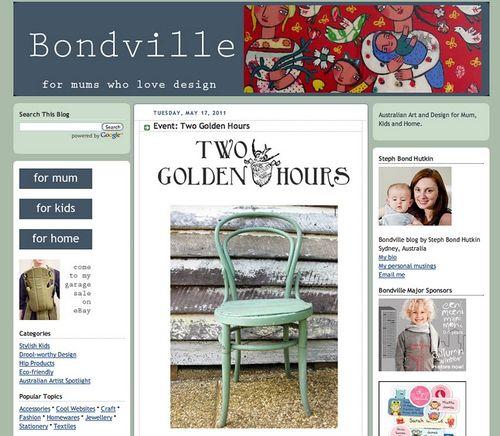 Bondville blog